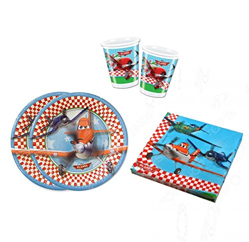 Disney Planes Birthday Party Supplies Set Plates Napkins Cups Kit for 16 Guests