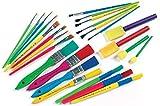 Baker Ross Bumper Paintbrush & Sponge Dabber Value Pack Assorted shapes & sizes (Pack of 25)