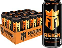 THE ULTIMATE FITNESS FOCUSED BEVERAGE: Blended with BCAAs, 300 mg of Natural Caffeine, CoQ10 & electrolytes, REIGN Total Body Fuel is designed for your active lifestyle. Offering zero sugar, zero artificial flavors & colors & only 10 calories, Reign ...
