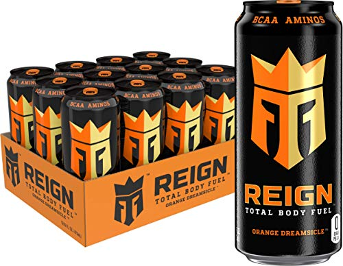 Reign Total Body Fuel Orange Dreamsicle Fitness amp Performance Drink 16 Fl Oz Pack of 12
