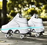 XRDSHY Zapatos con rollos multifuncionales, patines ajustables...