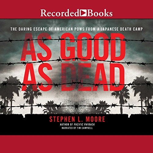 As Good as Dead     The Daring Escape of American POWs from a Japanese Death Camp              By:                                                                                                                                 Stephen L. Moore                               Narrated by:                                                                                                                                 Tim Campbell                      Length: 9 hrs and 5 mins     39 ratings     Overall 4.7