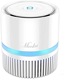 MOOKA Air Purifier for Home, 3-in-1 True HEPA Filter Air Cleaner for Bedroom and Office,..