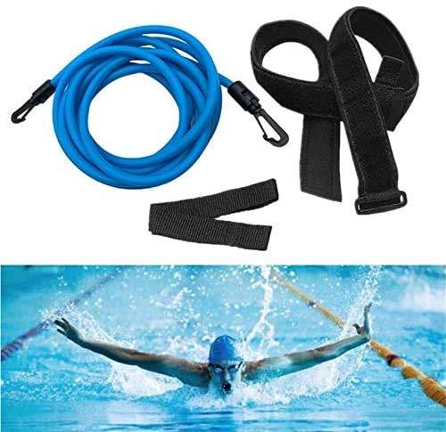 schwimmgurt Kinder/Erwachsene Einstellbare Pool Schwimmgürtel, Schwimmwiderstand Gürtel Schwimmtraining Bungee Durable Schwimmgurt Bremsschirm und Elastikband