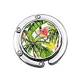 Gancho para Monedero Hermoso patrón Floral de Verano Bolso Plegable Mesa Percha-Bolso Percha Colección-Escritorio Ganchos