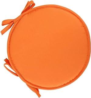 Wakauto Sillas Redondas Cojín del Asiento Esponja Taburete Almohadillas Fundas Fundas con Cordones para 0Ffice Hogar Escuela Restaurante 30Cm (Naranja)