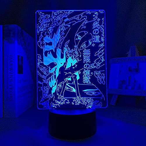 3D Anime lámpara noche luz aire engranaje luz LED para decoración de la habitación manga regalo cumpleaños niños dormitorio decoración mesa aire engranaje 7 colores