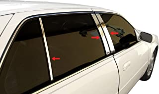 Made in USA! Works with 2000-2005 Cadillac Deville 6 PC Stainless Steel Chrome Pillar Post Trim