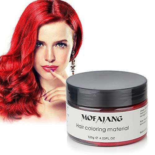 Blanco Barro de Pelo, Cera para el cabello, MOFAJANG Peinado temporal Cera tintórea Crema de barro Pomadas para el cabello Moda DIY para hombres y mujeres