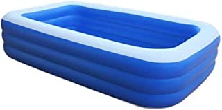 Nologo Piscina Inflable- Piscina De La Familia Rectangular- Interior Resistente Al Aire Libre Portatil De PVC Piscina Hinchable Infantil-(Todos Los Tamanos) (Size : 262×160×60cm)