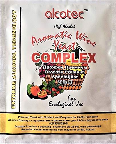 HUGBERT Weinhefe, Aromatic Wine Complex, Turbohefe, Alkohol, Gärhefe, Wein (10 x 40g)