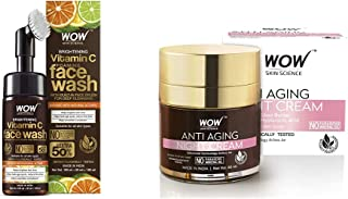 WOW Skin Science Brightening Vitamin C Foaming Face Wash with Built-In Face Brush for Deep Cleansing 100 ml/150 ml & WOW A...
