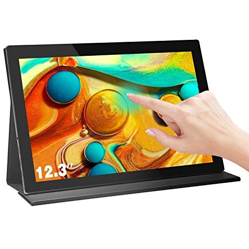 Lebula Touch Screen Monitor 12.3 Inch Full HD 1920×1280 Portable Monitor, MiniHD & USB Type-C Plug and Play Monitor, IPS Portable Gaming Monitor with Dual-Speakers