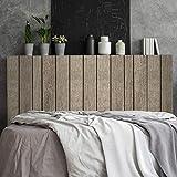 Megadecor Tte de lit dcorative en PVC effet planches en bois vieillies