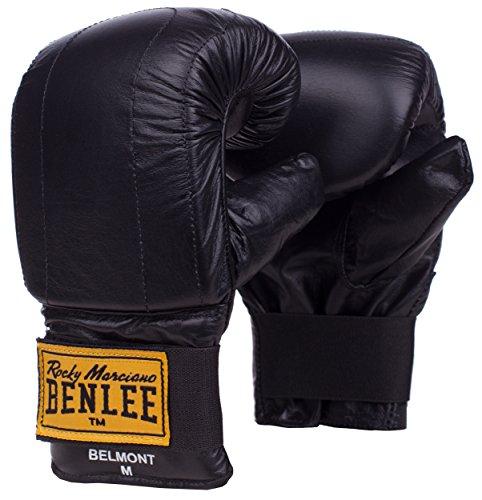 BENLEE Rocky Marciano 'Boston' - Guantoni in pelle per sacco da boxe, Nero, S