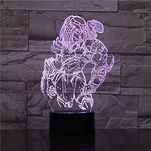 3D nachtlicht illusion lampe lampelednachtlicht 7 farben touch nachtlicht für kinder Alien vs Wolf Predator Schreibtischlampe Für Wohnkultur acryl