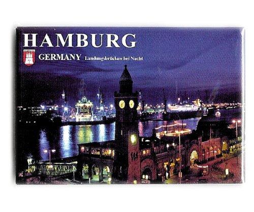 City Souvenir Shop Magnet Hamburg Landungsbrücken mit Docks