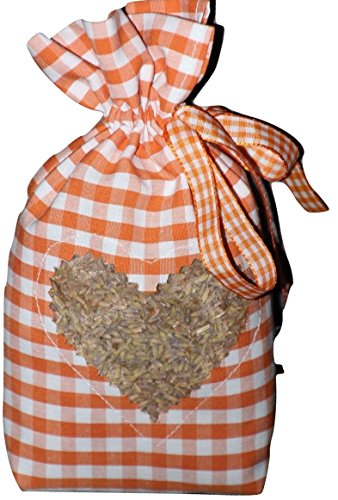 Hanse Glücks-Manufaktur GmbH Lavendelsäckchen Geschenk Weihnachten Kleidermotten (weiß/orange)