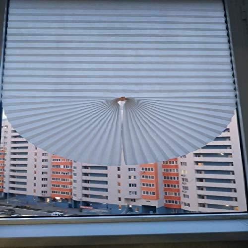 Cortina opaca para ventana ciega, fácil de levantar, plisada, bloqueo de luz, persianas SP, Persianas Blanco, 90 W X 150 L cm
