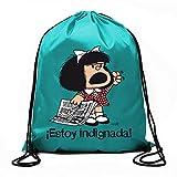 Bolsa de cuerdas Mafalda Â¡Estoy indignada! (BOLSAS)