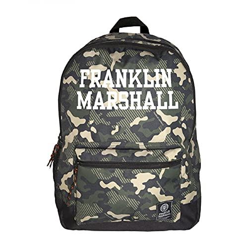 Senfort Franklin & Marshall D-Pack 2 scomparti e zaino da tasca anteriore, 44 cm larghezza x 30 cm altezza x 18 cm altezza mimetico