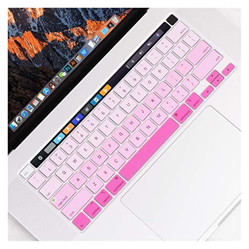 EKYJ Fácil de Usar La Cubierta del Teclado del Color del gradiente for el MacBook Pro de 13 Pulgadas 2020 Modelo A2289 Piel del Teclado película Protectora Protector de Piel para Teclado