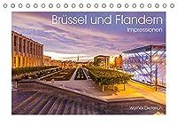 Bruessel und Flandern Impressionen (Tischkalender 2022 DIN A5 quer): Bruessel und die Region Flandern in 13 faszinierenden Aufnahmen (Monatskalender, 14 Seiten )
