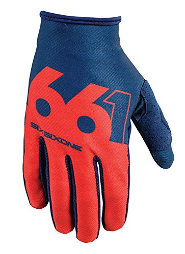 SixSixOne Comp Slice Handschuh, navy/red, M