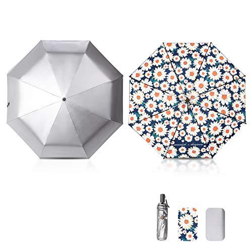 Galatée Mini Paraguas Plegable UV Protección Recubrimiento