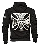 Photo de WCC West Coast Choppers Hoodie Cross Panel Zip Black - M