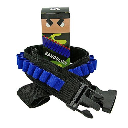 EKIND Toy Gun Bullet Shoulder Strap Darts Bandolier Kit Ammo Storage Holder Compatible for Nerf Elite N-Strike Blasters