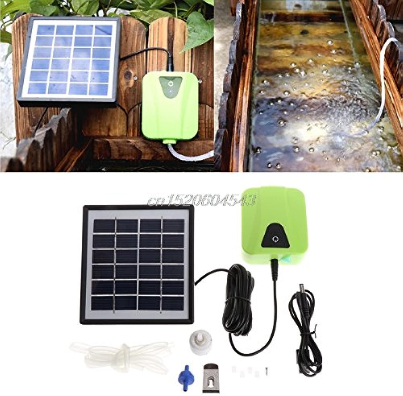 NJPOWER Solar Powered Charging Oxygenator Air Pump Oxygen Aerator for Aquarium Fish Tank Fish & Aquatic Pet Supplies R06 Drop Ship
