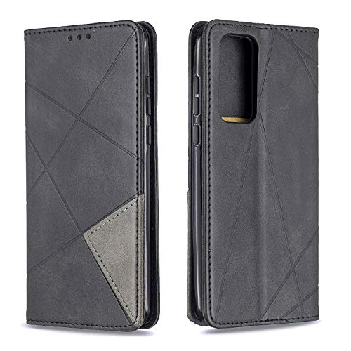 Leather Wallet Case for Huawei P40 PU Leather Wallet Phone Case Flip TPU Shockproof Shell Slim Fit Protective Cover for Huawei P40 - EYBF020394 Black