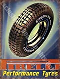RKO Pirelli Performance Pneumatici Auto & Moto Vintage Garage Metallo/Insegna in Acciaio - 20 x 30 cm