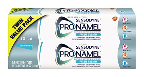 Price comparison product image Sensodyne Pronamel Toothpaste for Tooth Enamel Strengthening,  Fresh Breath,  4 Ounce (Twin Pack)