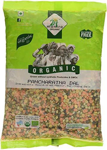 24 Mantra Organic Mixed Lentils (Pancharatna Dal) - 2 lbs