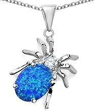 Star K Sterling Silver Spider Pendant Necklace