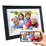 NPET Smart LCD Digital Picture Frame WiFi 10.1 Inch 16GB with IPS Touch Screen HD Display, Background Music Support 1080P Video, Easy Setup to Send Photos&Video Remotely via App More Secure Than Email