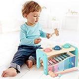 Wenta Xylophone Kinder mit Hammerspiel Baby Musikinstrumente Holz Montessori Früherziehung...