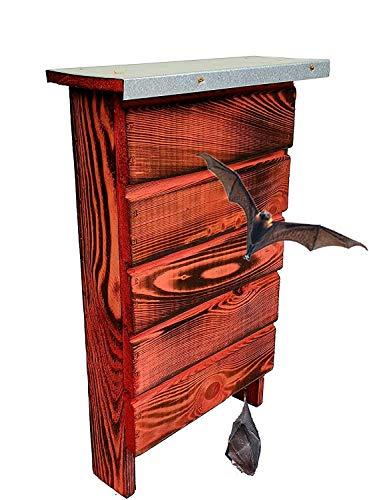 BLIZNIAKI BAT Box Fledermaus-Kaste Fledermaushaus aus Holz Nistkaste Fledermauskasten zum Aufhängen Unterschlupf für Fledermäuse Schläger Geeignet für Fledermäus (BDN1 Opal CB)