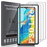 LK Compatible con Huawei P30 Lite Protector de Pantalla,3 Pack,9H Dureza Cristal Templado, Equipado con Marco de Posicionamiento,Vidrio Templado Screen Protector,LK-X-59