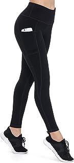 comprar comparacion ALONG FIT Mujer Mallas con Bolsillos Leggings Deporte Alta Cintura Mallas Adelgazantes Compresion Pantalon Deportivo Largo...