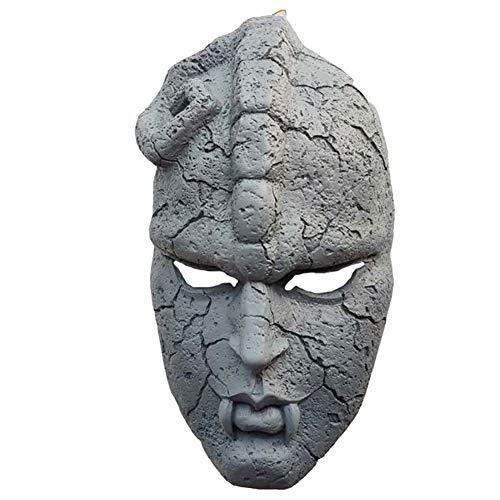 Halloween Cosplay Partei-Terror JoJo Bizarre Adventure Mask TV Anime (Steinmaske) JoJo-Maskerade Harz-Stein-Geist-Schablonen-Crafts-Dekoration