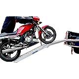 LIEKUMM Rampe Alimunium pliable de 228 cm pour SUV, moto, camion, chargement, capacité de charge de 340 kg (AR07)