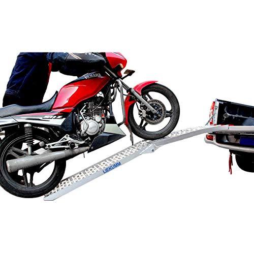 LIEKUMM 228CM Faltbare, einzelne Alimunium-Rampe,Rampe für Geländewagen,Motorrad,LKW,Laden,Tragflähigkeit 340kg(AR 07)