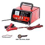 Lescars NX-3042 Chargeur de batterie automatique professionnel 12/24 V Rouge