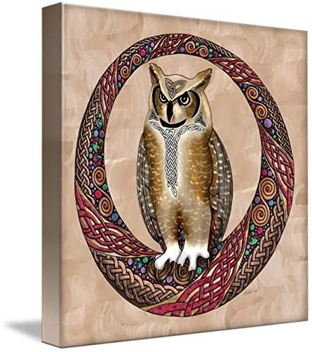 Wall Art Print entitled Celtic Owl by Kristen Fox
