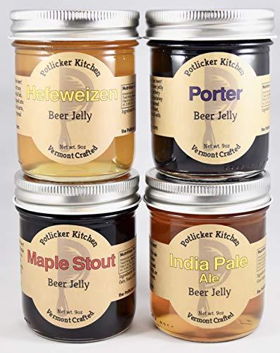 Set of 4 Jars Craft Beer Jelly