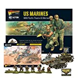 Wargames Delivered World War Tabletop Tanks Miniatures Game - Military Strategy Miniature Wargames - Warlord Games Bolt Action: US Marines and M3 Stuart Set - 28mm
