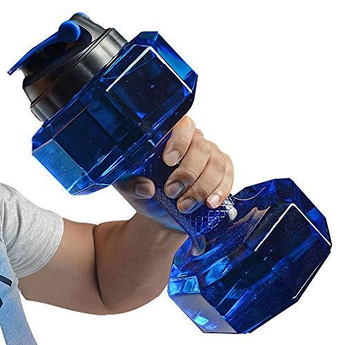 TENER Wasser Cup Outdoor Sport Cup Hantel Wasserkocher Sport Cup große Kapazität Plastik Cup Sport Flasche Outdoor 2200ml Gym Large Capacity Sport Flasche (Color : Blue)